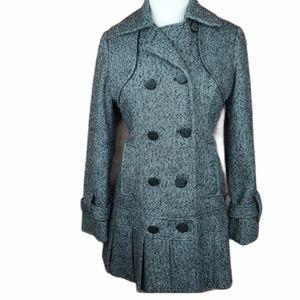 Guess woolblend tweed pea coat